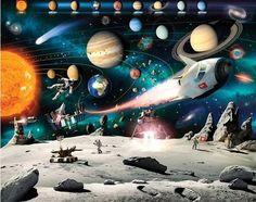 Ruimtevaart behang Space - WT