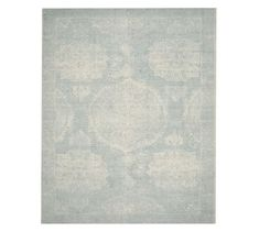 Barret Printed Rug - Porcelain Blue | Pottery Barn