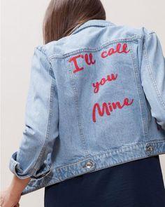 DIY : broder des mots d'amour sur sa veste en jean   DIY : embroider love words on his denim jacket