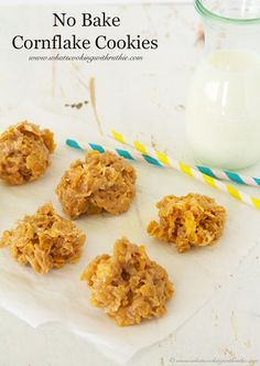 We used to make these when I was a kid - No Bake Cornflake Cookies by whatscookingwithruthie.com