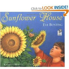 """We still grow our beautiful sunflower house every year (since 2001).  Based on the book """"Sunflower House"""" by Eve Bunting!!! Awesome book!"""