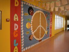 Mural pel Dia de la Pau