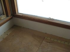 Living room window sill damaged with dog bites. This is an unavoidable repair before listing. Cost: $150 including labour.