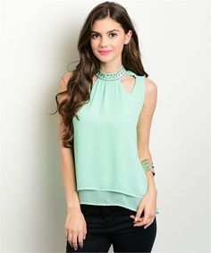 The Julie Jewel Top via PastelBlu. Click on the image to see more!