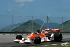 James Hunt, McLaren M26-Ford, #7, (RET-spun off) Brazilian Grand Prix held at Jacarepagua, 1978.