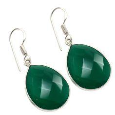 Silvestoo India Green Onyx Gemstone 925 Sterling Silver Earring PG-100757   https://www.amazon.co.uk/dp/B06XXKP7VM