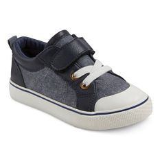 Toddler Boys' Connor One Strap Sneakers Cat & Jack - Navy 12, Toddler Boy's, Blue