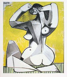 Picasso - nu accroupi - 1954