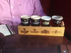Irish Flight at the Irish Times Pub in Victoria, BC a perfect way to try out some great beers without the commitment of a Pint