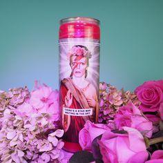 Saint Bowie Candle