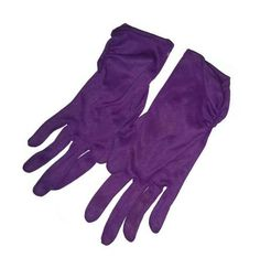 PURPLE Vintage GLOVES 50s 60s Deep Purple RUCHED Cuffs Mid Century Mad Men Rockabilly Fashion Wedding Bridesmaid Cocktail Party Prom Size 6