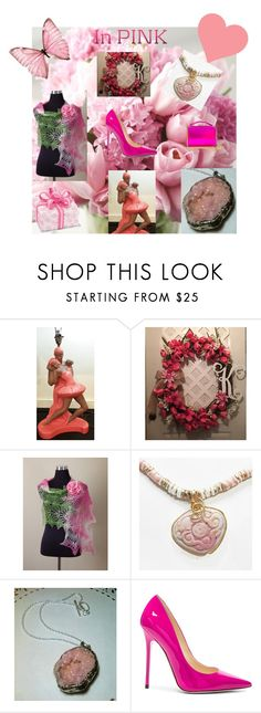 IN PINK! by christine-bygrave on Polyvore featuring Jimmy Choo, Mark Cross, etsy, Spring2017, EtsyTeamUnity and etsyevolution