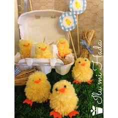 Risultati immagini per pollitos diy Farm Animal Party, Farm Party, Spring Crafts, Baby Boy Shower, Party Time, Decoration, Birthday, Diy, Crochet
