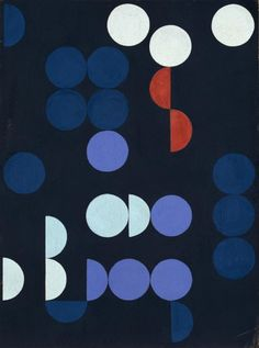 "ideageneration: "" Sophie Taeuber-Arp, Composition of Circles and Semicircles, 1935 """
