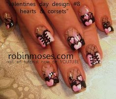 109 Best Valentines Day Nail Art Gallery With Tutorials Images On
