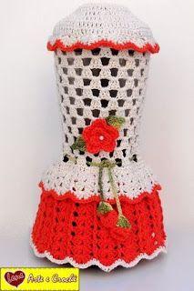 Aprende cómo hacer lindas fundas para tus licuadoras ~ lodijoella Freeform Crochet, Crochet Motif, Crochet Designs, Crochet Doilies, Crochet Patterns, Crochet Towel, Love Crochet, Diy Crochet, Hand Crochet