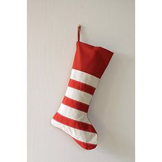 Festive Striped Red  White Cotton Christmas Stocking * Details can be found by clicking on the image. (This is an affiliate link)