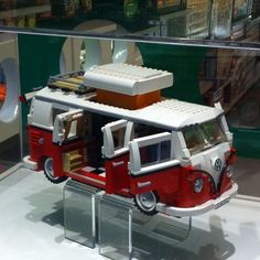 Lego camper at the lego store…Radical!! #lego #vw (Taken with instagram)