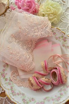 Beautiful vintage lace & china