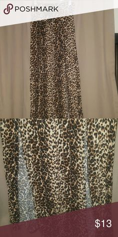 Cheetah print Maxi skirt Cheetah print maxi skirt. Slits on both side. Wear shorts underneath slits are high up. Skirts Maxi