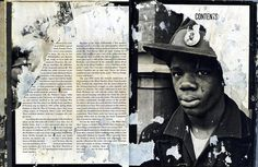 Public Collectors - page from a water-damaged Black Panthers book