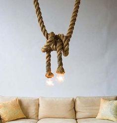 Φτιάξε φωτιστικό από σκοινί!