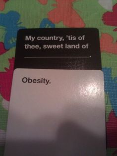 Funny Cards Against Humanity plays - click through for more at The Berry.