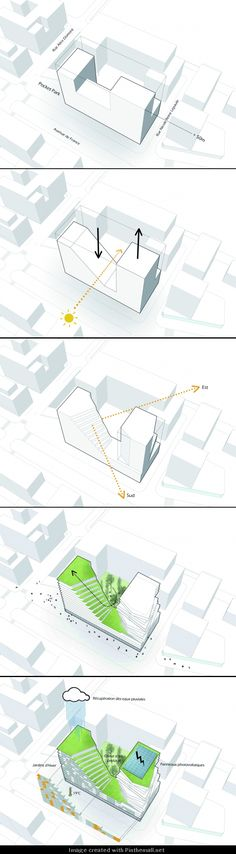 The Masséna Competition Entry / Harmonic + Masson Architects and Comte Vollenwe. - The Masséna Competition Entry / Harmonic + Masson Architects and Comte Vollenweider Architects - Conceptual Architecture, Architecture Concept Drawings, Architecture Graphics, Architecture Portfolio, Architecture Design, Seattle Architecture, Architecture Diagrams, Classical Architecture, Urban Design Concept