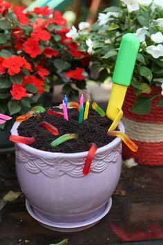 Dirt Cake for a garden party theme
