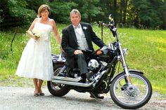 Full service planning & design (including photography styling) by Knots 'N Such Events.  Based on a common love of motorcycles, 2nd wedding photography, bride and groom.  Photo by Brant Daniel Photography.  www.knotsandsuch.com
