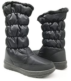 Women Winter Cold Weather Resistant Snowboots Snow Boots Lace up Zipper 10 Elise_Black *** This is an Amazon Affiliate link. Learn more by visiting the image link.