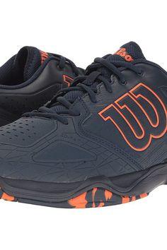 Wilson Kaos Comp (Dress Blue/Navy Blazer/Flame) Men's Tennis Shoes - Wilson, Kaos Comp, WRS322420, Footwear Athletic Tennis, Tennis, Athletic, Footwear, Shoes, Gift, - Street Fashion And Style Ideas