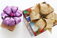 Decorazioni di Natale fai da te: tutorial fiocco con nastro
