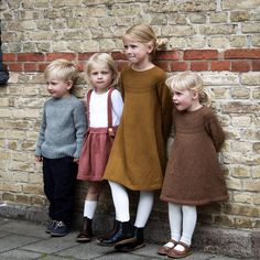 Gotta find me a Scandinavian man. Those babies are named Olav, Ingeborg, Sunniva, and Olga. Toddler Dress, Baby & Toddler Clothing, Baby Dress, Knitting For Kids, Baby Knitting, Baby Girl Fashion, Kids Fashion, Scandinavian Baby, Vintage Wardrobe