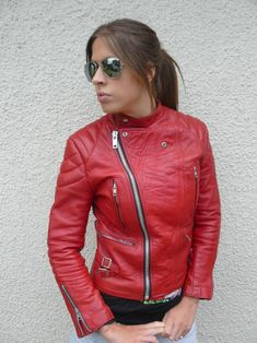 Fashion Shoes, Biker Fashion, Biker Style, Red Leather, Zip Ups, Boots, Sexy, Womens Fashion, People
