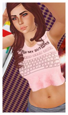 sadisim:  Really digging LoubelleSims' clothes & meshes lately. So I threw on a quick stencil based off a cute shirt I saw on Google. Pretty blurry, gotta get around to fixing it but if you don't really care too much about it being optimal quality, go ahead and grab it on my Dropbox.Credit: LoubelleSims for the mesh, of course.≡ DOWNLOAD ≡