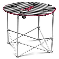 Alabama Crimson Tide Houndstooth Round Tailgate Table