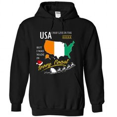 I May Live in the United States But I Was Made in Ivory - #teens #men shirts. GUARANTEE => https://www.sunfrog.com/States/I-May-Live-in-the-United-States-But-I-Was-Made-in-Ivory-Coast--Christmas-Tees-kqvsjvwqzg-Black-Hoodie.html?id=60505