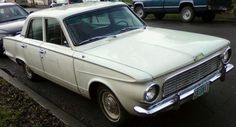 A beautiful beater—my college car, a 1963 Plymouth Valiant ... same color and everything