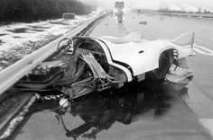 Porsche 917 LH-70 - Stuttcars.com 1970 April 6, Ehra-Lessien test track: 917-040 completely destroyed, but Ahrens miraculously survived.