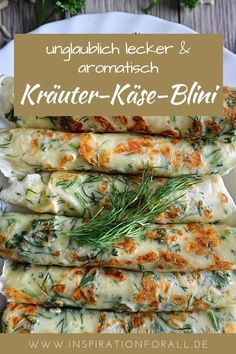 Herb Cheese Blini - Recette facile et rapide à mordre - Leckere Rezepte von inspirationforall. Quick Recipes, Quick Easy Meals, Easy Dinner Recipes, Appetizer Recipes, Breakfast Recipes, Vegetarian Recipes, Cooking Recipes, Healthy Recipes, Cooking Ham