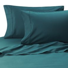 MicroTouch Sateen Standard Pillowcase in Teal (Set of 2) - Bed Bath & Beyond