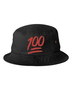 Emoji 100 Emoticon Unisex Bucket Cap Hat Hats Gift Women Man Hat