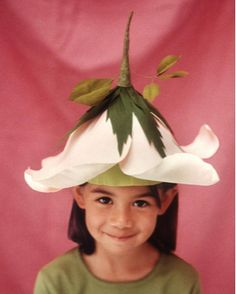 Rose Costume | Martha Stewart Living - Begin by making a Basic Crepe Paper Cap that's 10 inches tall.