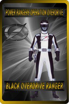 Black Overdrive Ranger by rangeranime on @DeviantArt