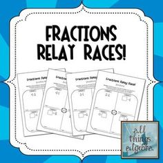 Fractions Relay Race