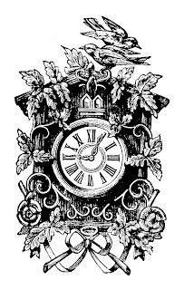 VintageFeedsacks: Vintage Cuckoo Clock...