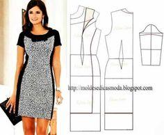 Love this neckline! Простые выкройки нарядных платьев