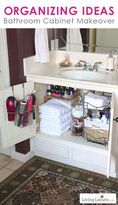 What home couldn't use more storage in the bathroom! Check out these creative bathroom storage ideas! bathroom organization, bathroom storage, creative organizing ideas, small bathrooms, DIY home decor ideas Ideas Para Organizar, Organization Hacks, Organizing Ideas, House Organization Ideas, Small Apartment Organization, Apartment Ideas, Basket Organization, Organizing Hair Supplies, Bedroom Organization