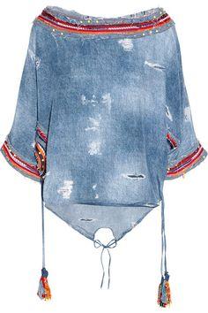 demin love, top, jean, blouse